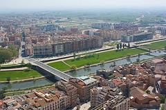 Lleida des del campanar de la Seu Vella