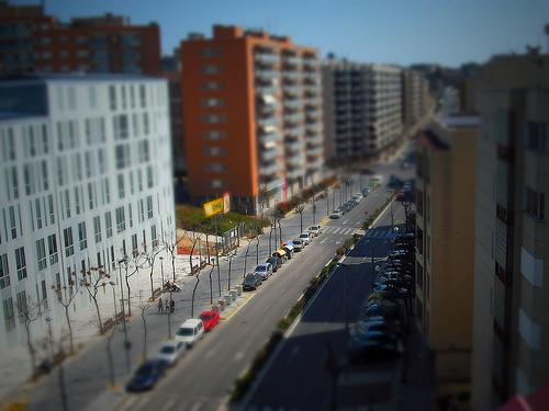 Avenida Catalunya (Tilt-Shift)