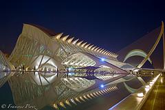 Ciudad de las Artes y las Ciencias de noche